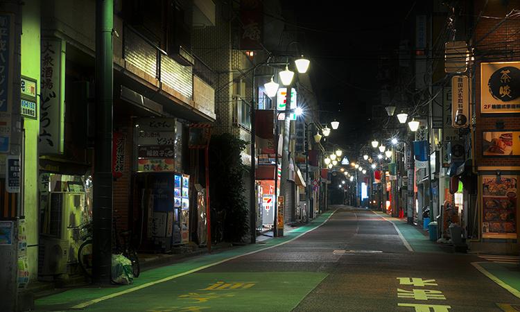 街の夜の風景